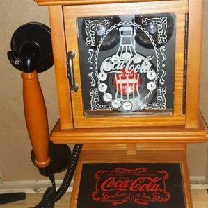 Nostalgic Coca-Cola wall phone